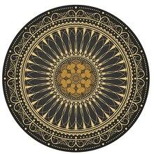 Alfombra redonda de sala de estar persa Retro alfombra para los pies de la cama alfombra de dormitorio americano estera de sofá hogar alfombra de suelo silla de estudio alfombra Vintage