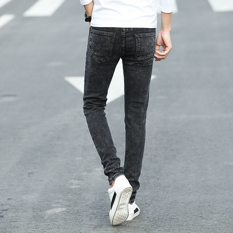 Hot Selling 2019 Spring And Summer Thin Hot Selling Jeans Men's Men Korean-style Slim Fit Brand Jeans Men's Fashion