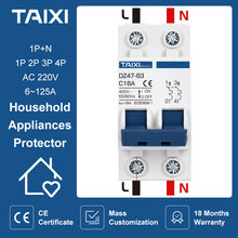 DZ47 Mini Circuit Breaker 1P 2P 4Pole AC 220V 3A 6A 10A 16A 20A 32A 40A 50A 63A 80A 100A MCB Air Switch CE CB Isolator