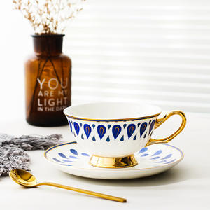 Coffee-Cup-Sets Saucer-Set Tea-Cup Ceramic Office with And Spoon Household