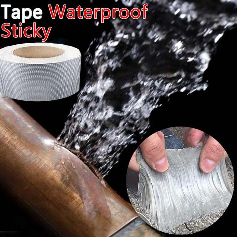 Супер сильный Алюминий Фольга клейкая Бутилкаучуковая лента водостойкая клейкая лента супер ремонт трещин утепленные реагенты обогащения...