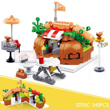 Mini City Street Food Building Block Friends Creator Ice Cream Bricks Miniature Food Girls Kids Education Legoingly Toy Gift city street shops building toys clothing stores fast food stores luxury brand stores building block bricks compatible legoingly