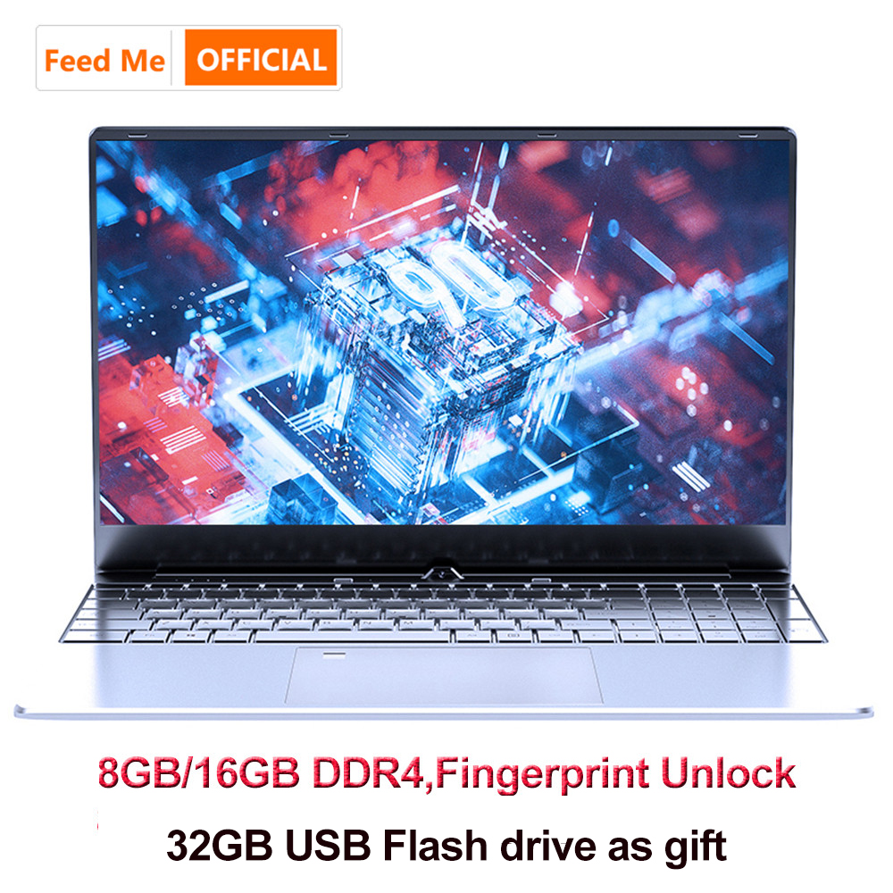 15.6 Inch 8GB16GB Laptop Fingerprint Unlock Intel 3867U Windows10 SSD Notebook For Office CF MC LOL Game With USB Flash Drive