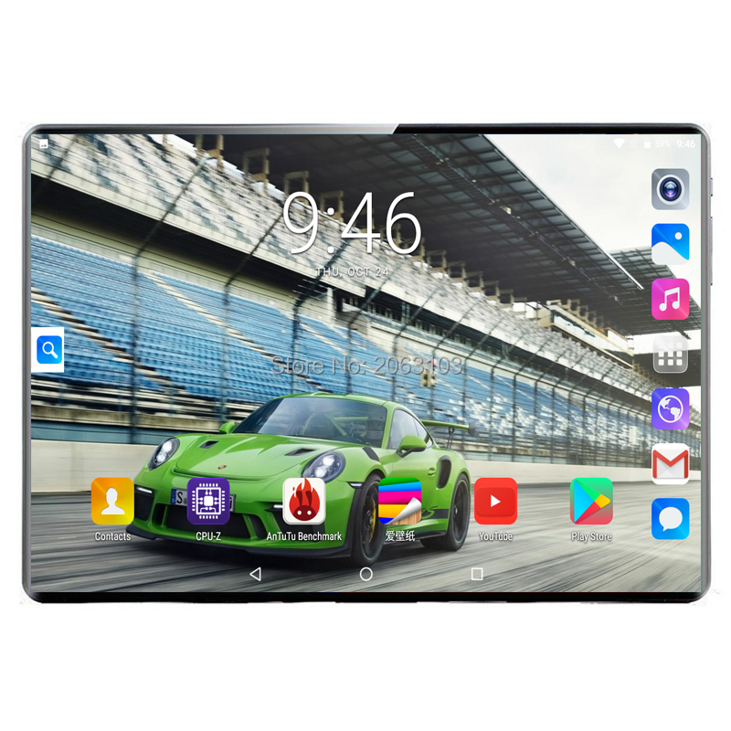 8G + 128G multi-touch D'écran En Verre Deca Core 10 Pouces Tablette 8 GO RAM 128 GO ROM Double Caméras Android 9.0 tablette 1920*1200