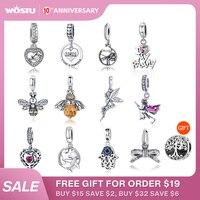 Véritable pendentif 100% 925 en argent Sterling pendentif breloque pendentif Original Bracelet collier authentique perles bijoux maman cadeau