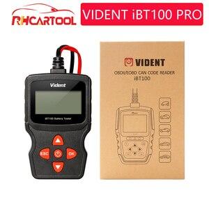 BT100 PRO 6V 12V Car Battery Tester For Flooded AGM GEL 100 to 1100CCA 200AH Test Automotive Analyzer PK BST200 PS100 PT150(China)