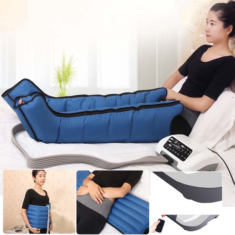 Pressotherapy Air Compression Leg Foot Massager Vibration Infrared Therapy Arm Waist Pneumatic Air wave pressure machine b0164