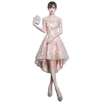 Party dress korean noble elegant vestidos 2019 new spring short sleeve slim female annual host fashion bandage maxi dresses CX97