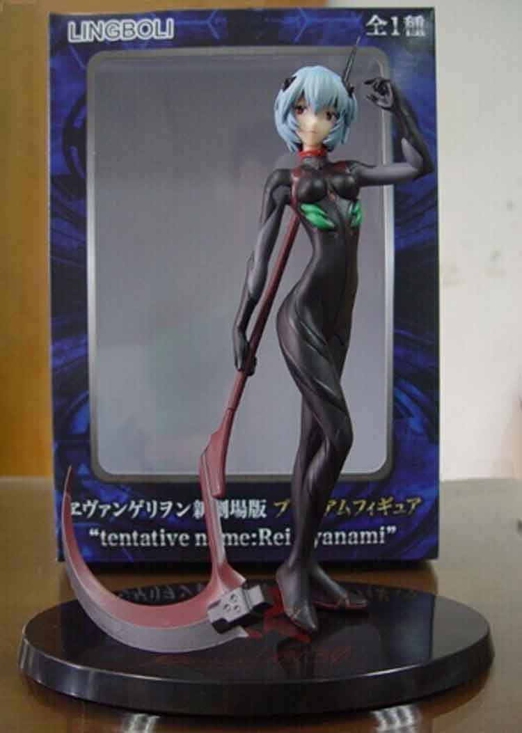 Anime Native Ayanami Rei Black Trowel Christmas Costume Ver. PVC Action Figure Mark 09 Lying Model Collection TONY Toy Kids Doll