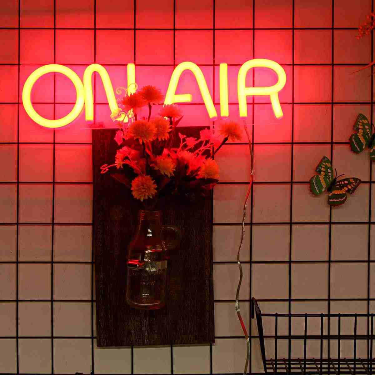 En el aire LED letrero de neón barra de luz Pub Club decoración de pared LED tubo de arte Visual decoración de fiesta lámpara de neón hogar decoración Luz de la noche