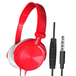 Image 4 - Wired Foldable Deep Bass On ear Earphones w/ Microphone 3.5mm Interface Headphones for Cellphones Laptop Tablet Mp4 Mp3 Headset