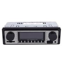 ABHU-Bluetooth винтажный автомобильный Радио MP3-плеер Стерео USB AUX классический автомобильный стерео аудио