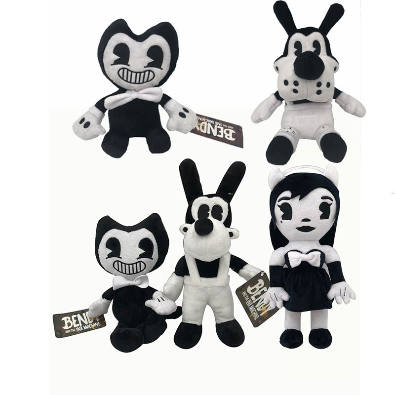 18-30 Cm Bendy And The Ink Machine Plush Toy PP Cotton Stuffed Animals Doll Kids Toys Halloween Christmas Present For Children