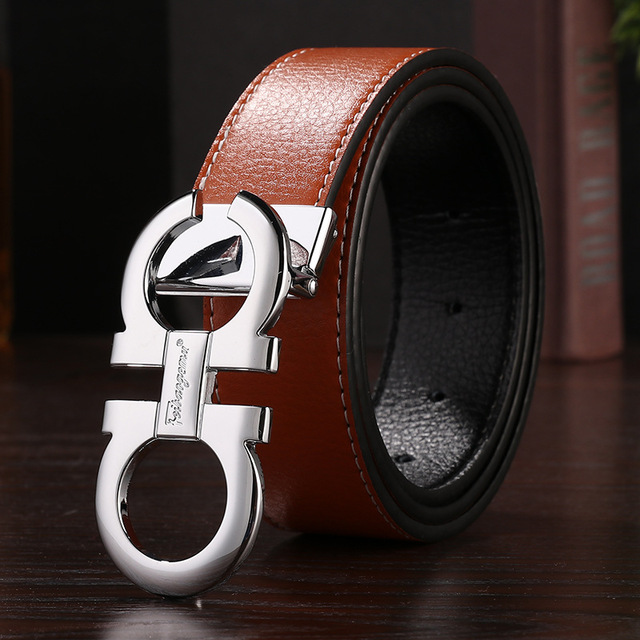 Women/'s Leather Belt Waistband MOSCHINO letters Metal Smooth Buckle Accessories