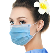 50pcs Protective Mask Disposable Anti-Dust Surgical Earloops Masks Solid Color Face Mouth Masks Non Woven