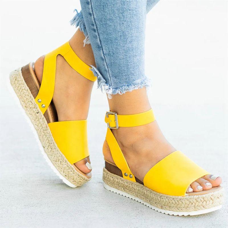 Women Sandals Plus Size Wedges Shoes For Women High Heels Sandals Summer Shoes 2020 Flip Flop Chaussures Femme Platform Sandals 2