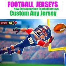 Футболки на заказ, футболки для американского футбола, Даллас Денвер Детройт Грин, Хьюстон, Канзас-Сити, Лос-Анжелес, Майями, Миннесота, Джерси
