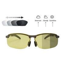 Nowa z nocnym okulary Vision fotochromowe okulary żółte soczewki polaryzacyjne UV400 okulary jazdy dla kierowców Sport mężczyźni kobiety