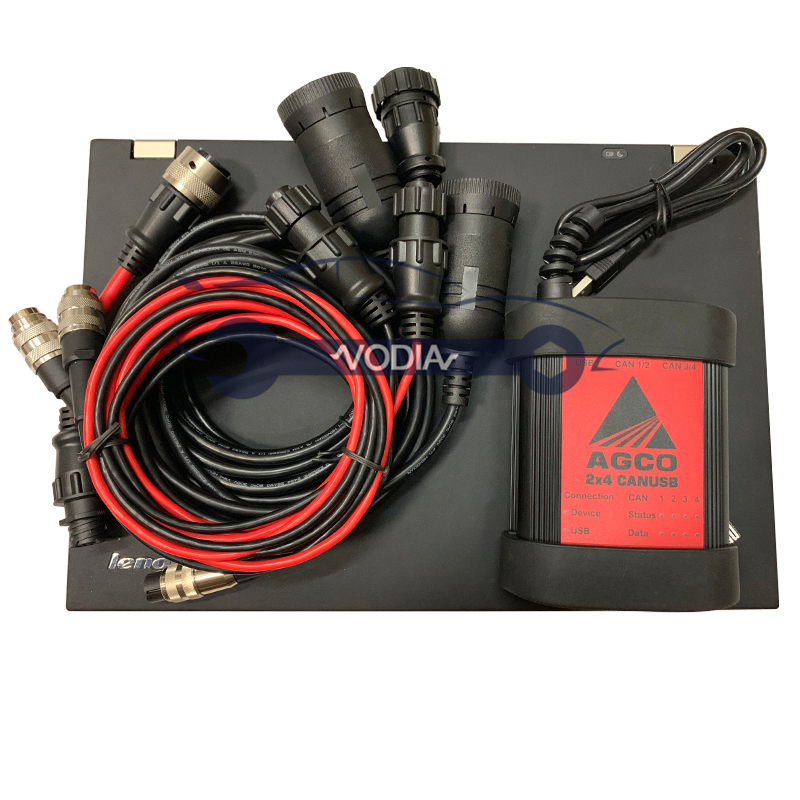 Agricultural <font><b>Electronic</b></font> Diagnostic <font><b>Tool</b></font> EDT For AGCO DIAGNOSTIC KIT (CANBOX)+T420 laptop FENDT FenDias Massey diagnostic image