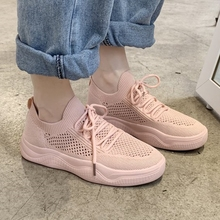 Summer Women Mesh Shoes Breathable Comfortable Soft Flat Pin