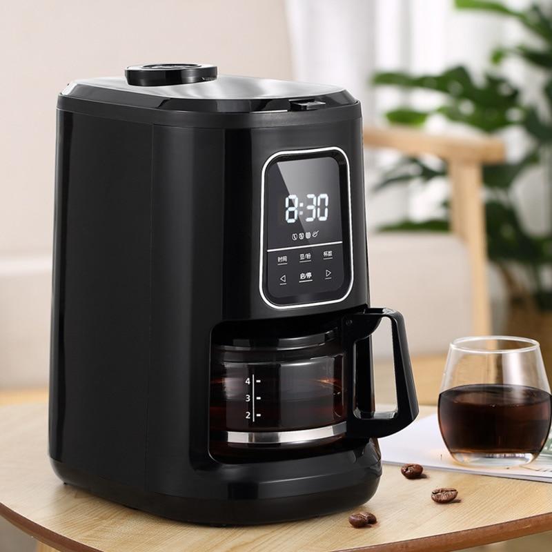 Cafetera automática para el hogar, máquina de café recién llegada, máquina de harina de café de doble propósito americana, máquina todo-en-uno Manguera de 4 vías de 1