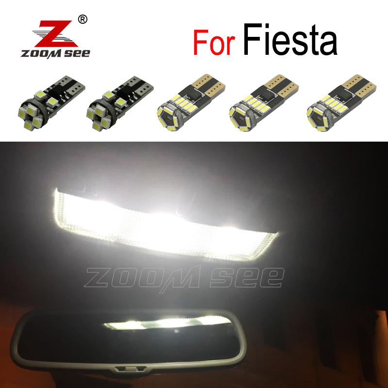 Perfect Error Free white LED bulb Interior Reading Dome light kit For <font><b>Ford</b></font> <font><b>Fiesta</b></font> MK6 MK7 <font><b>Accessories</b></font> (2002-2016) image