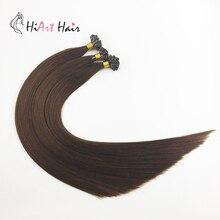 HiArt, 1 г/локон, волосы для наращивания на плоских кончиках, человеческие волосы remy, волосы для кератинового наращивания, прямые волосы для наращивания, 50 г