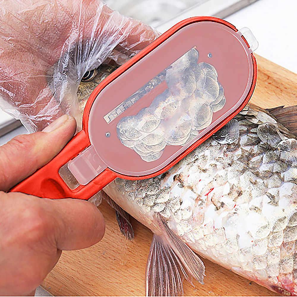Nuovo Pratico Pesce Bilancia di Rimozione Della Pelle Bilancia R Skinner Raschietto Coltello Cleaner Cucina Peeler Strumenti di Pesca Utensili da Cucina Peeler