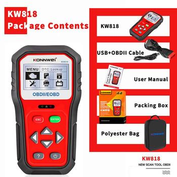 KONNWEI KW818 Car Code Scanner Professional Auto Code Reader Diagnostic Check Engine Light Scan Tool After 1996 OBD2 Scanner car diagnostic tool full obd2 scanner obdii code reader free update erase engine check light for auto