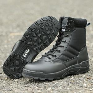 Image 4 - Nam Sa Mạc Chiến Thuật Quân Sự Giày Nam Công Việc Lại An Toàn Giày Zapatos De Hombre Quân Khởi Động Mắt Cá Chân Buộc Dây Chiến Đấu Giày nam Giày