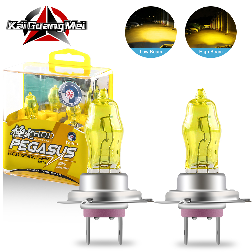2PCS Halogen Xenon Light Bulbs 100W H1 H3 H4 H7 H8 H11 9005 9006 Yellow 2800K 12V Car Headlight Fog Light Lamp Replacement