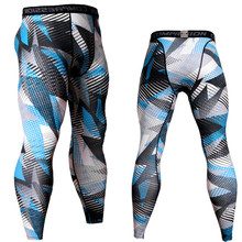 2019 New Men Tight Pants Leggings Running Sports Jogging Workout MMA Gym Fitness Male Trousers Crossfit Elasticity Sportswear