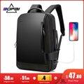 BOPAI мужской рюкзак 15,6-дюймовый рюкзак для ноутбука черный Расширяемый Рюкзак Mochila для мужчин USB зарядка мужские дорожные нейлоновые рюкзаки