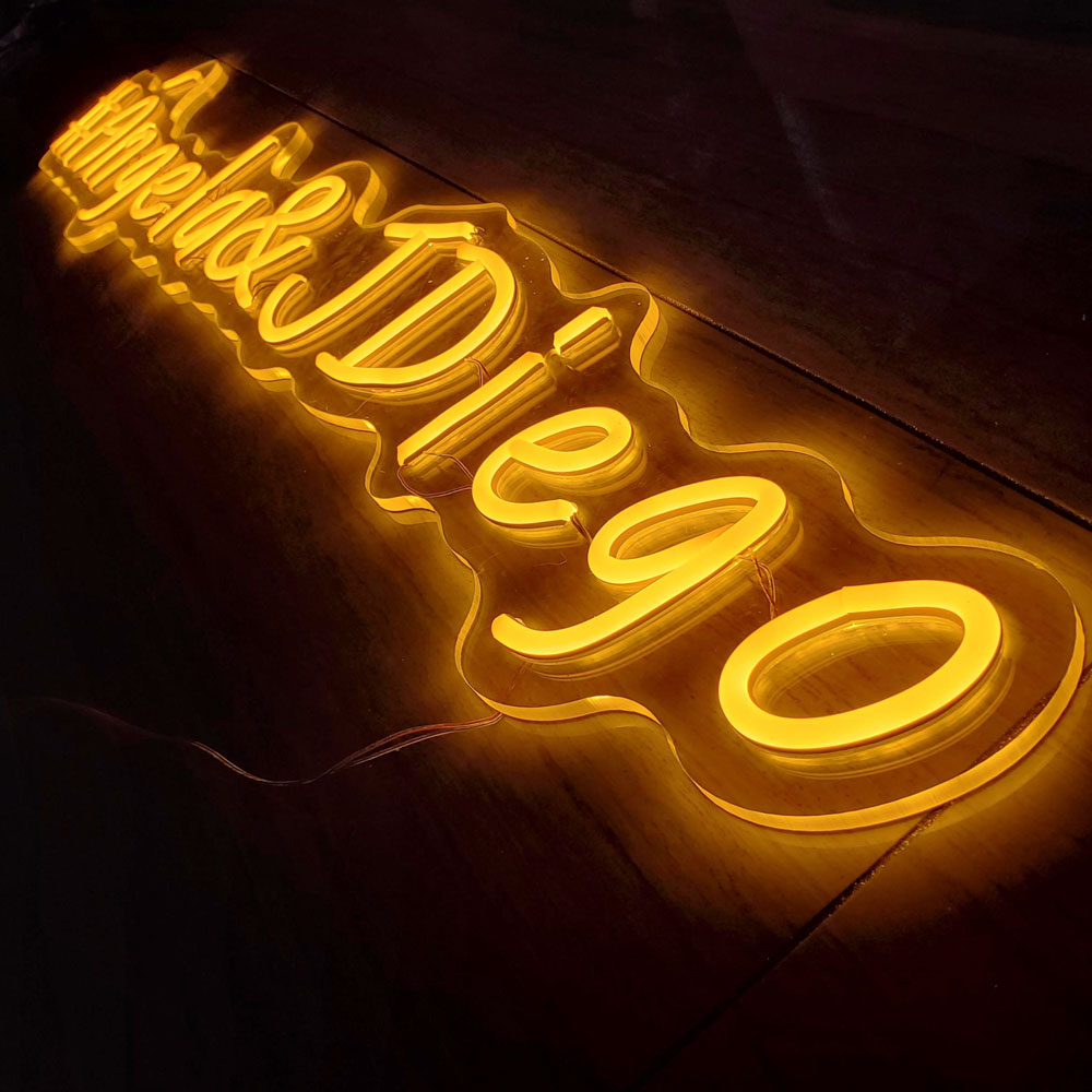 Unique Personalized Neon Bar Signs Flexible Neon Lights Yellow Neon LightsPVC Neon Sign For Shopfront Advertising