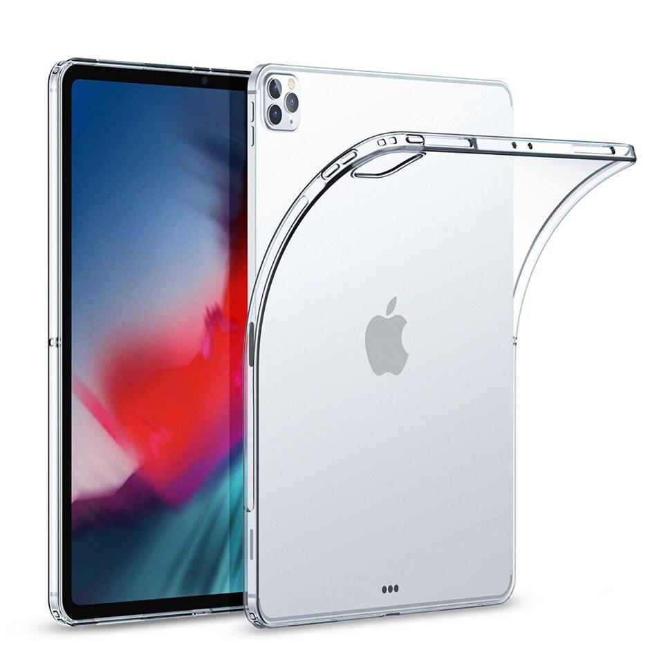 Tpu caso claro para ipad pro 12.9 11 caso 2020 silicone transparente ultra fino capa para ipad pro 11 caso coque funda acessórios