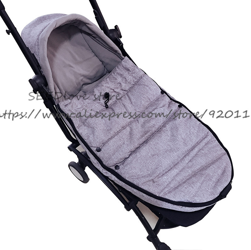 Image 4 - Baby Stroller Sleeping Bag Winter Slaapzak Warm Cover Foot Muff Envelop Babyzen Yoyo Yoya Pram Pushchair Stroller Accessorie-in Strollers Accessories from Mother & Kids