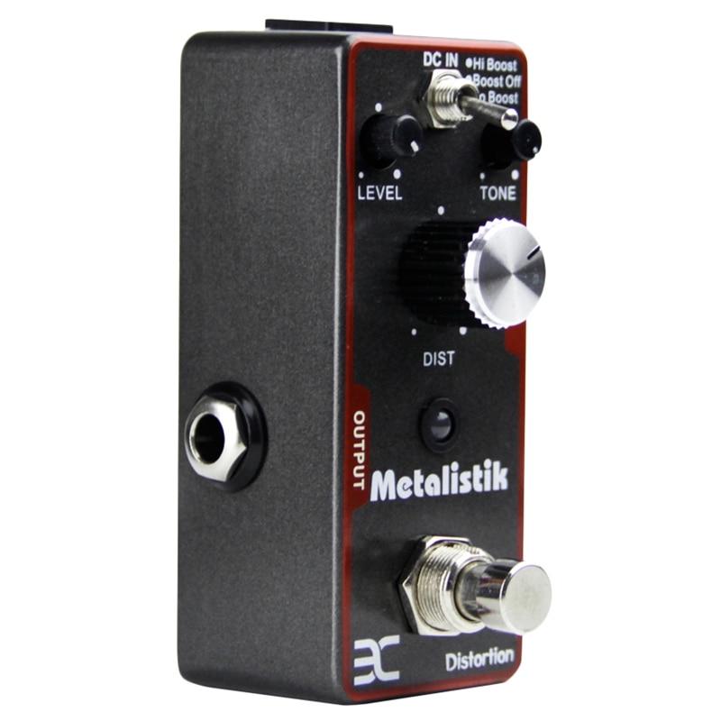 Eno Ex Metalisk distorsion effet guitare pédale guitare électrique pédale True dérivation trois contrôleurs (Volume, tonalité et Dist) Gu