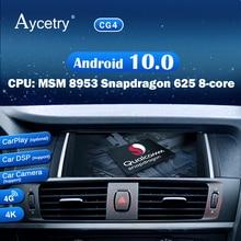 Autoradio Qualcomm Android 10, 8 cœurs, Navigation GPS, lecteur multimédia, stéréo, sans 2 din, pour voiture BMW X3 F25 X4 F26 (2011 2017)