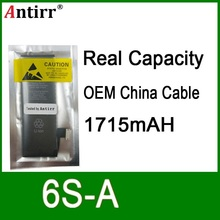 10 teile/los Reale Kapazität China Schutz bord 1715mAh 3,7 V Batterie für iPhone 6S null zyklus ersatz reparatur teile 6S A