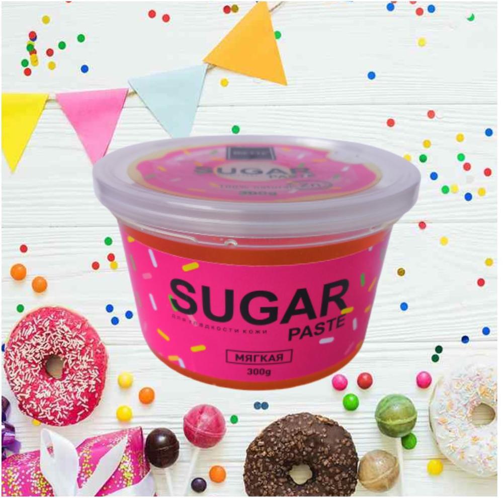 BIETTE Сахарная паста для шугаринга Мягкая, 300 гр / Доказанная защита от воспалений и вросших волос