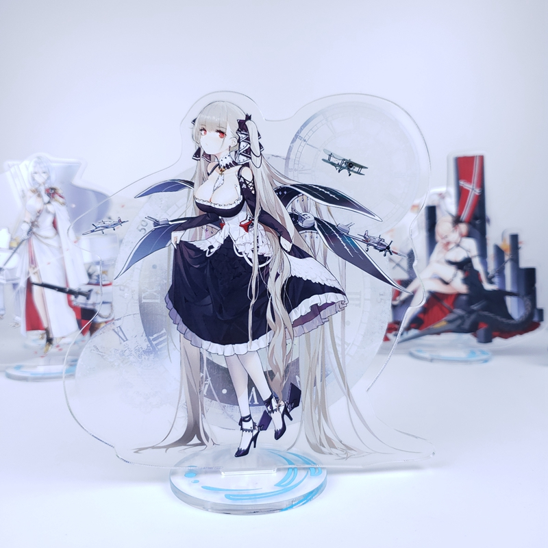 Anime Azur Lane Bride Formal Dress Skin Standee Chicheng Kaga Cosplay Double Side Acrylic Stand Figure Model Plate Desk Decor