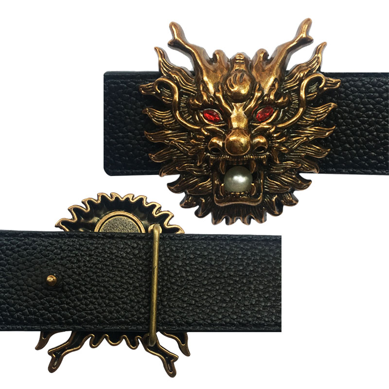 Traditional Chinese Dragon Icon Belt Buckles  Suitable For 4 Cm Width Belts Cool Accessories