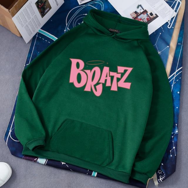 Women Casual Hooded Sweatshirt Bratz letter sweatshirt Harajuku Kawaii cute hoodie Long Sleeve Sweatshirt Autumn streetwear худи 5
