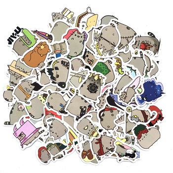 100pcs/pack Cute Fat Cat Decoration Stickers Diy Paper Sticker Scrapbooking for Diary Album Label Sticker Diary Travel Sticker 45pcs pack magic rabbit alice sticker mini paper diary label sealing scrapbooking decoration diy album stickers stationery
