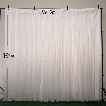 2 pieces 2 meter height x 3 meter width wedding backdrop drapery party curtain