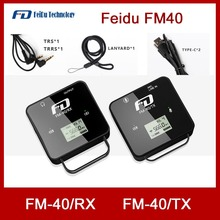 Feidu FM40 מיני אלחוטי מיקרופון עבור DSLR מצלמה טלפון נייד Chargable Lavalier מיקרופון TX משדר RX מקלט
