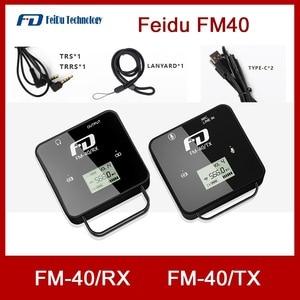 Image 1 - Feidu FM40 מיני אלחוטי מיקרופון עבור DSLR מצלמה טלפון נייד Chargable Lavalier מיקרופון TX משדר RX מקלט