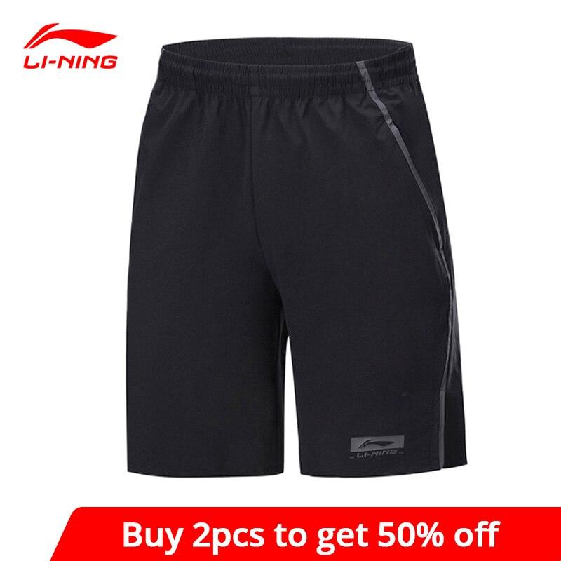 Мужские баскетбольные шорты Li Ning, Повседневные Дышащие шорты с подкладкой из 88% нейлона и спандекса, AKSP053 MKD1628|Баскетбольные шорты|   | АлиЭкспресс