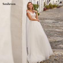 Свадебное платье smileven в богемном стиле кружевное с v образным