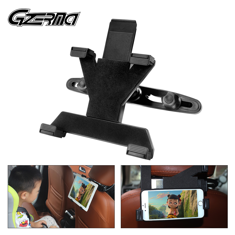 360 Rotating Adjustable Car Headrest Mount Tablet Phone Stand Holder For Huawei iPad Accessories 4-11